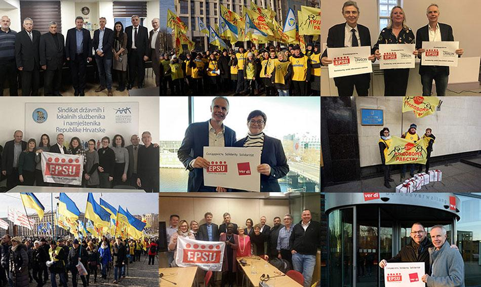 Solidarity with Ukrainian workers and Trade Unions