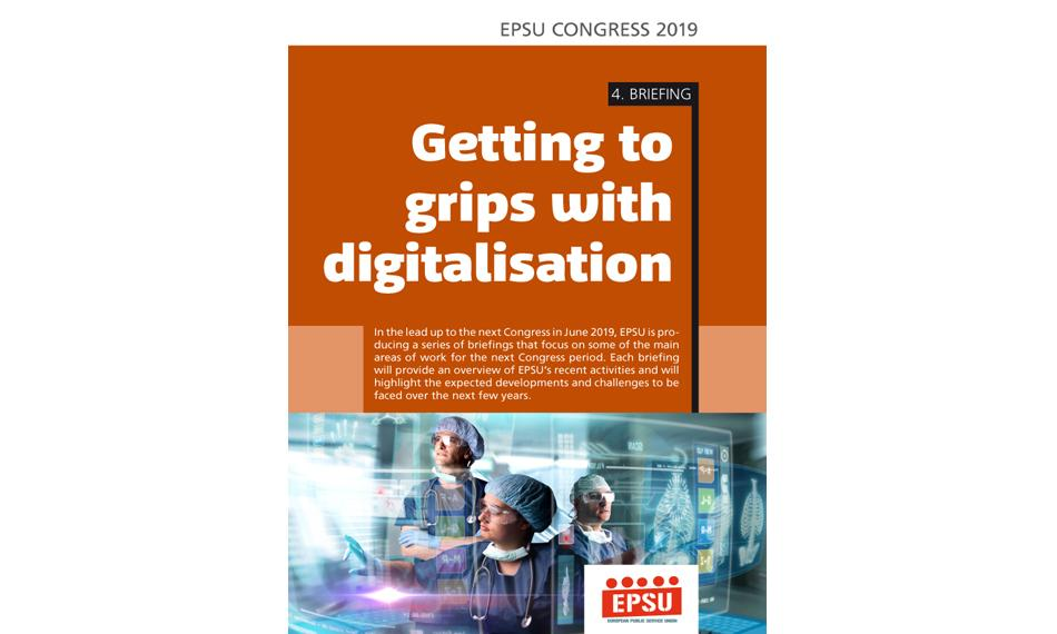 Cover EPSU Congress 4th briefing digitalisation