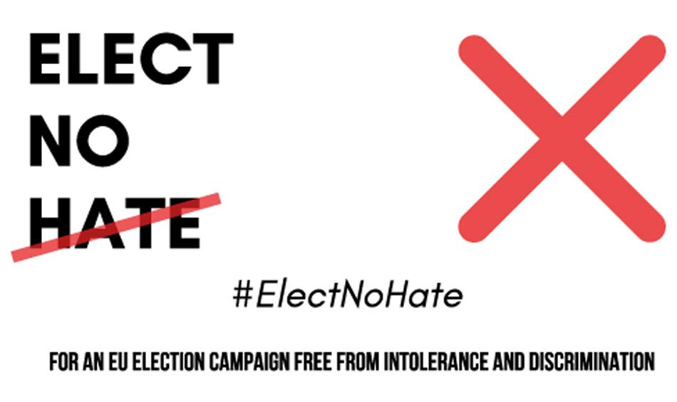Elect no hate logo for European elections