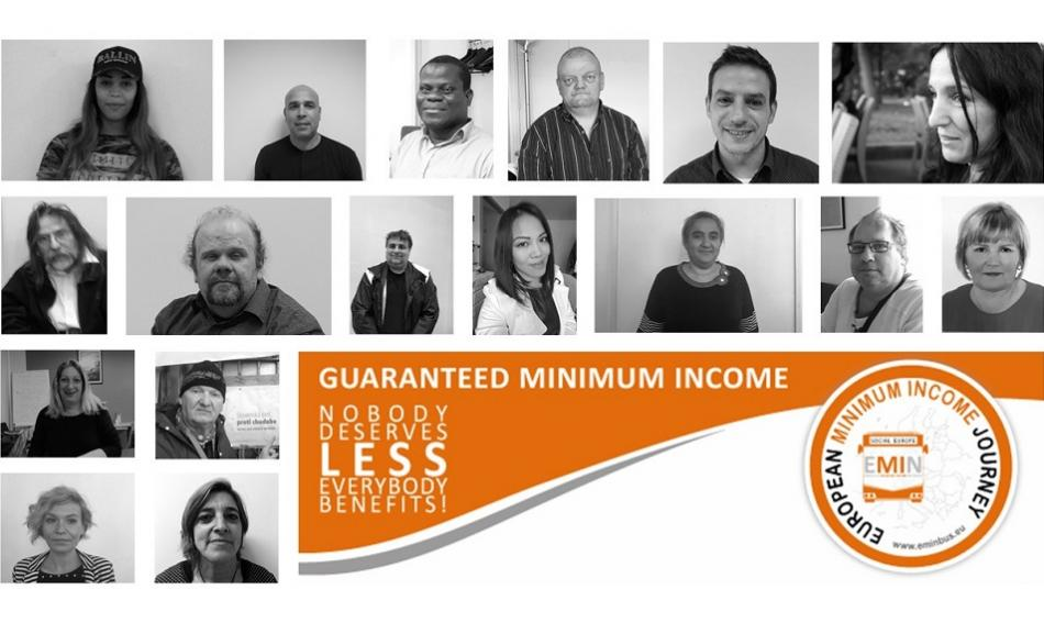 Minimum income campaign logo