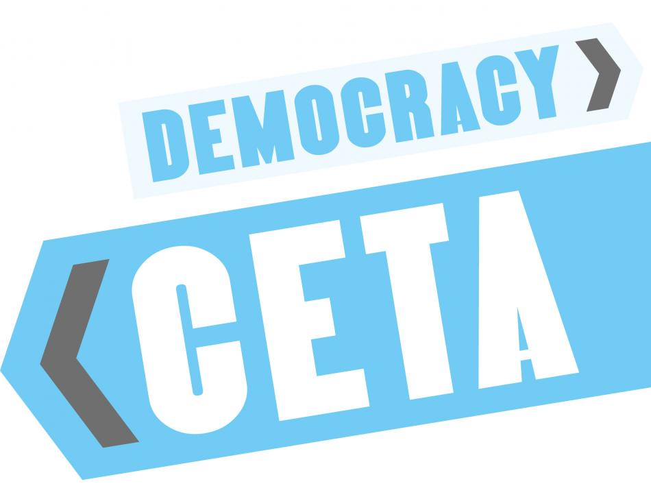 CETA: Trading away democracy logo