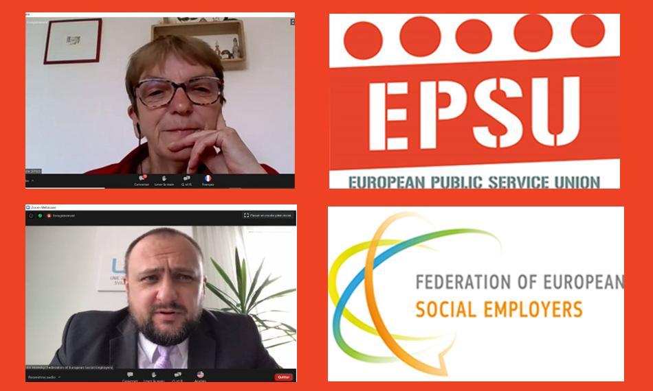 EPSU FESE webinar 9 June social services