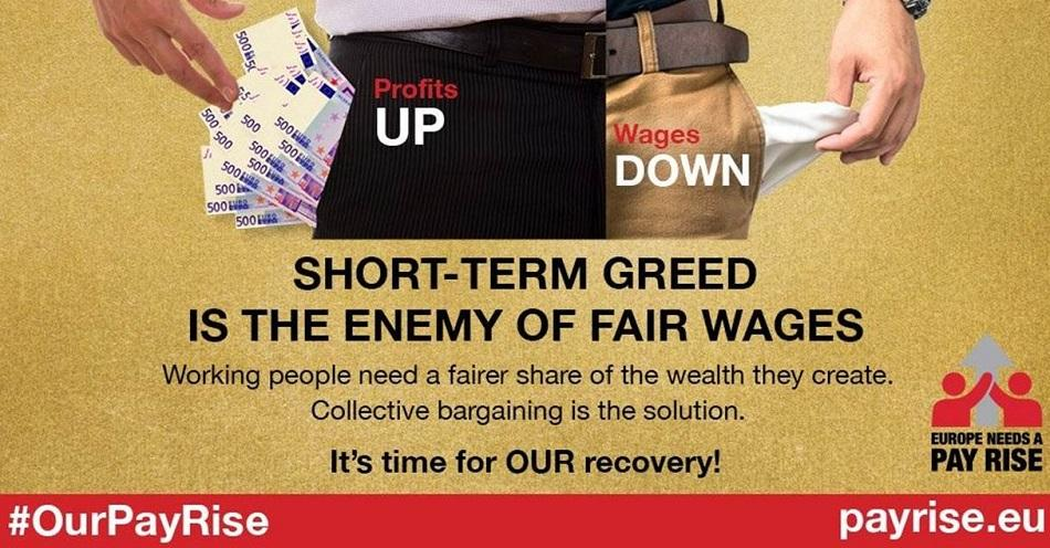 ETUC pay rise campaign short-term greed is the enemy of fair wages