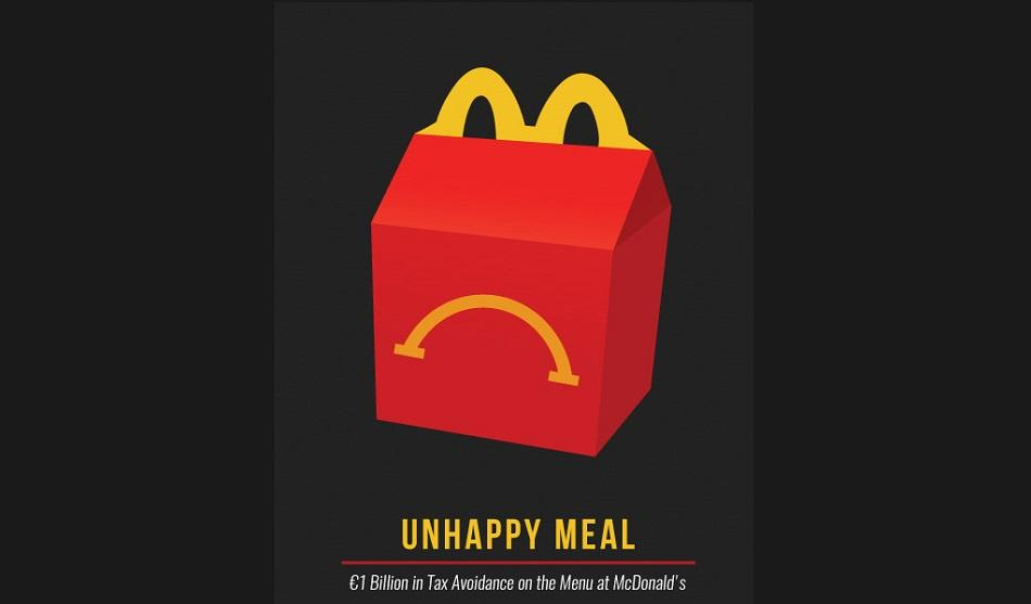 Unhappy meal logo cover EPSU report tax