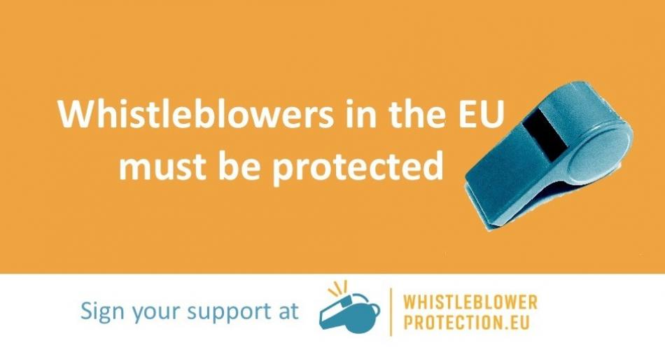 Whistleblowers protection logo campaign