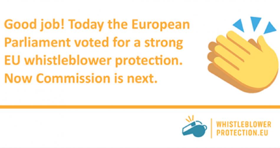 Whistleblowers EP vote 24 October 2017