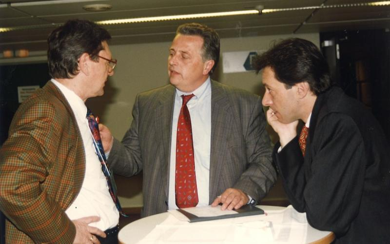 Rudi Hundstrofer with Michael Novak - Vienna 1996