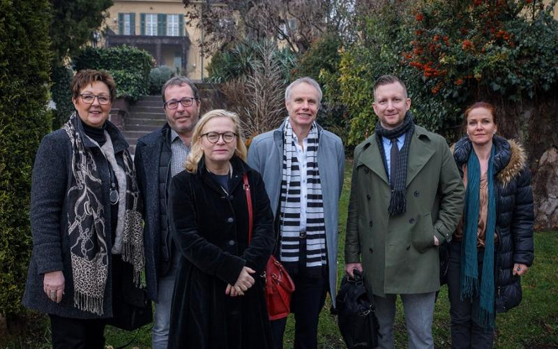 EPSU delegation in front of the German embassy in Ankara January 2019