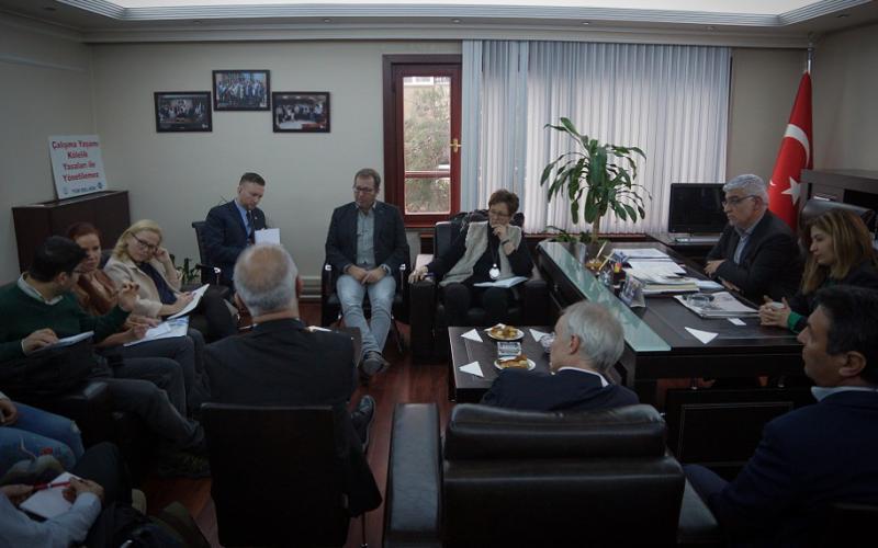 Tüm Bel-Sen representatives and EPSU delegation Ankara January 2019