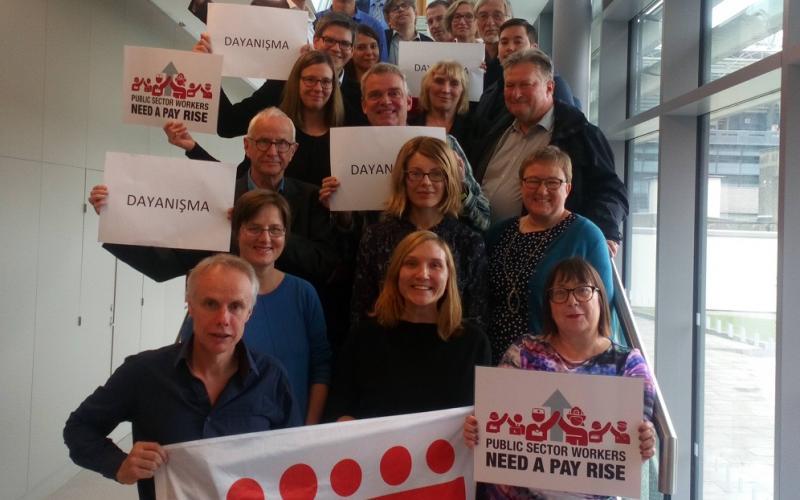 ETUC Litigation group, 02102018 Dublin expressing solidarity DISK KESK strike Izmir 03102018