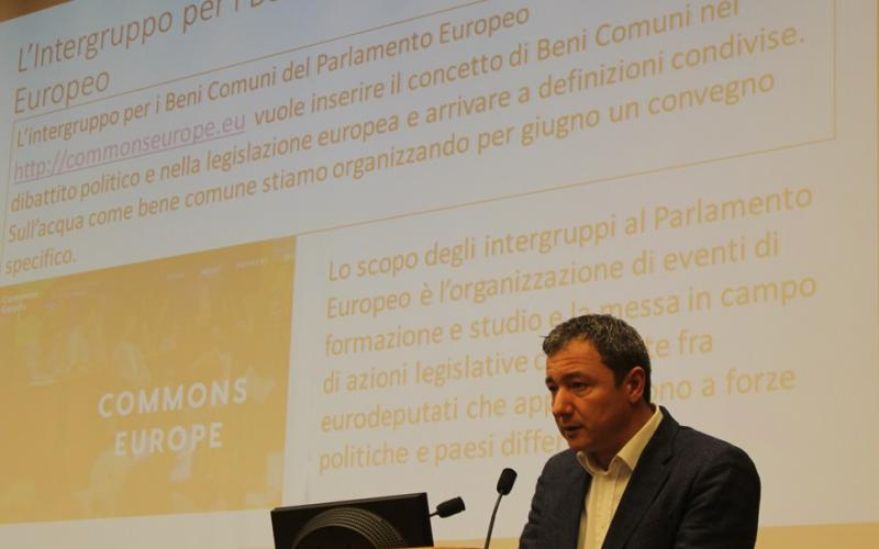 MEP Dario Tamburrano, Conferences on right2water water and remunicipalisation in Italian Parliament, 20 March 2017