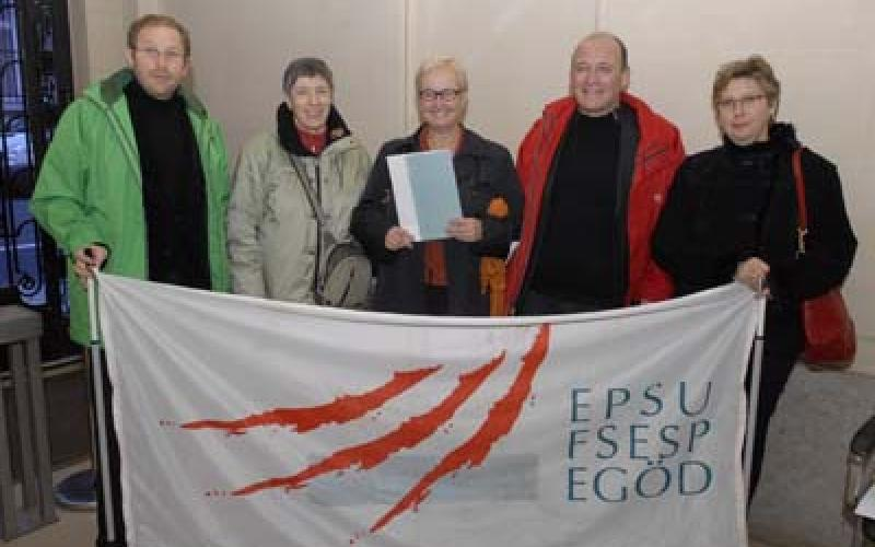 Delegation present solidarity statement to French Ambassador 20 November
