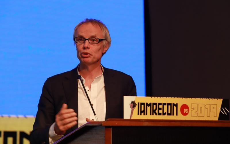 EPSU GS Jan Willem Goudriaan speaking at PSI Inter Americas conference June 2019 Buenos Aires