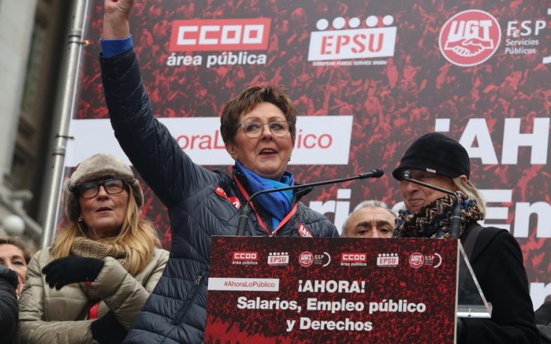 EPSU President in Madrid, 14 December 2017