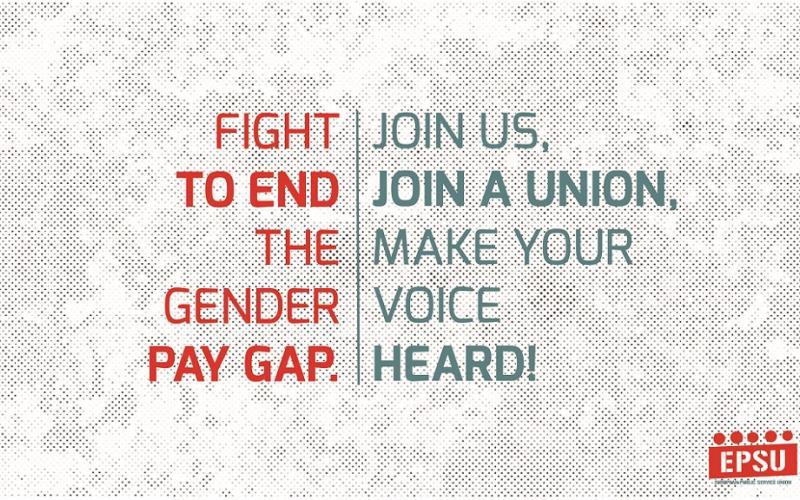 End the Gender Pay Gap - EPSU IWD 2017
