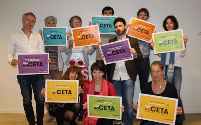 EPSU team says No to CETA - Public Services Day 23 June 2016