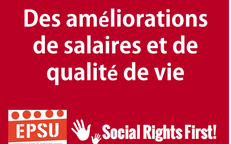 Social Rights First campaign - EPSU FR