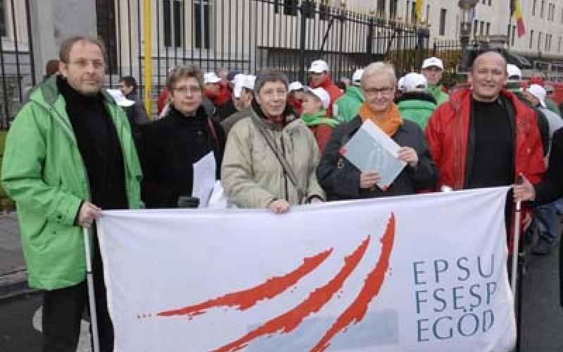 EPSU delegation to French Ambassador Brussels 20 November