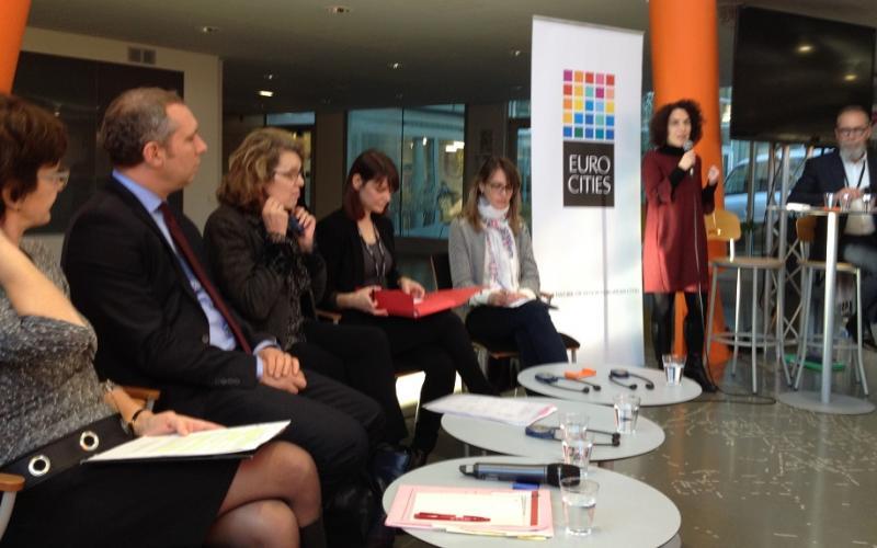 Eurocities and the Nantes Metropole seminar with 22 city representatives 6 December  2016
