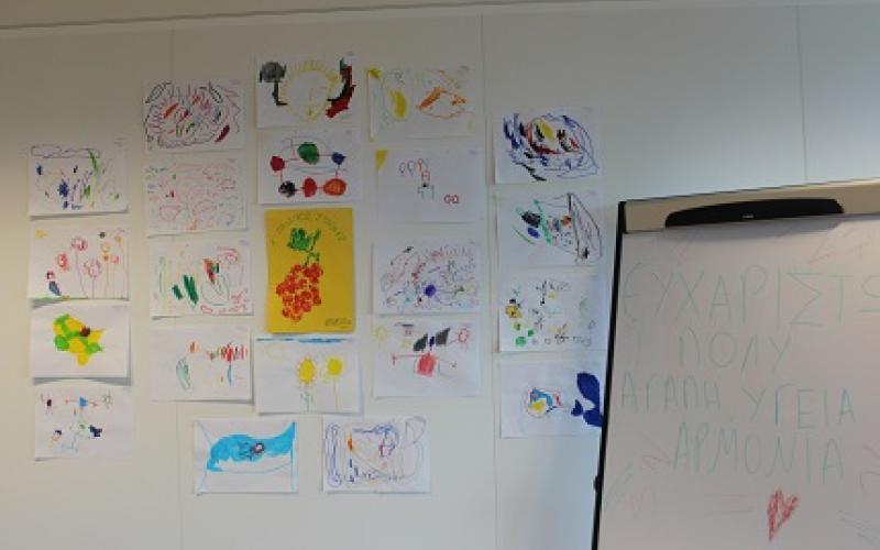 Children drawings from a nursery in Chalandri