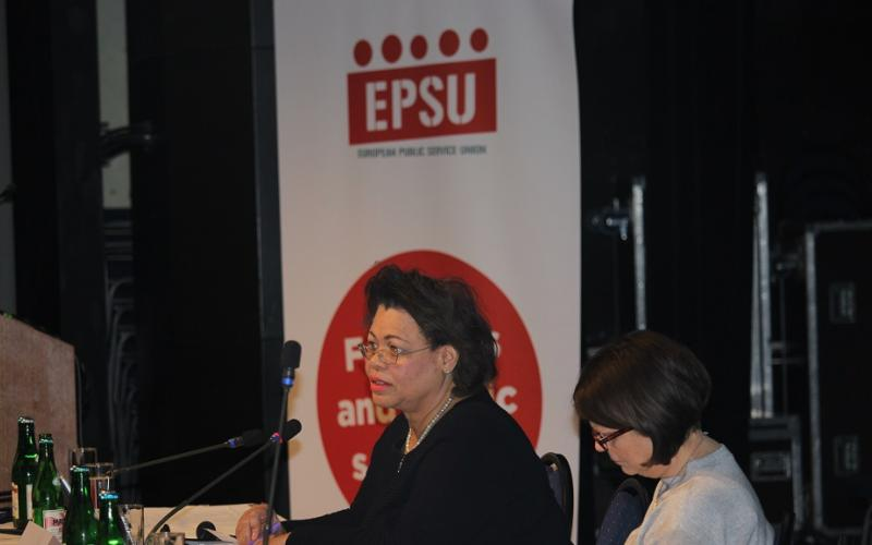 EPSU Women & Gender Equality Conference, Gloria Mills and Barbara Hellferich, Prague, 7-8 February 2018