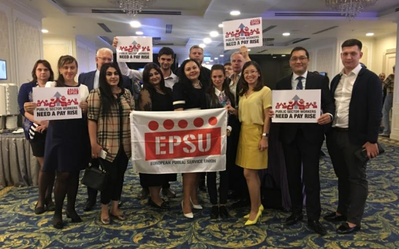 Public service workers deserve a pay rise, EPSU Constituency meeting Russia-Central Asia 18092018