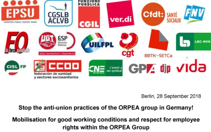solidarity letter ORPEA Germany all logos