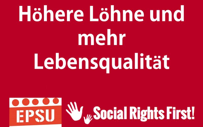 Social Rights First campaign - EPSU DE