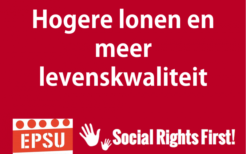 Social Rights First campaign - EPSU NL