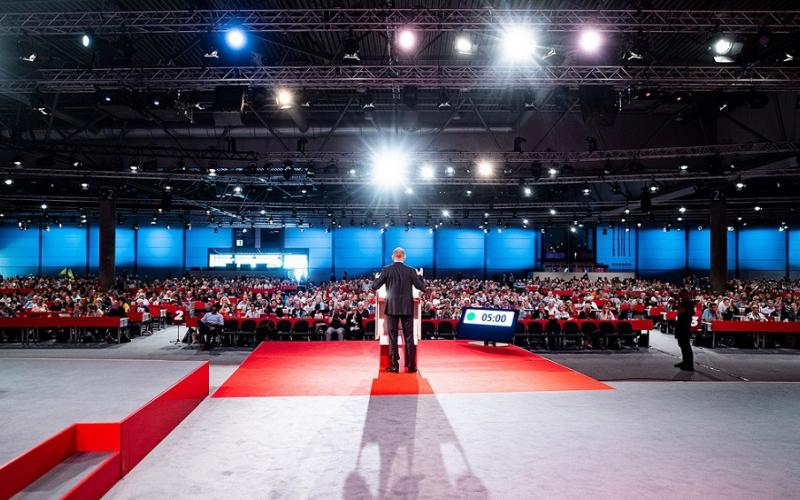 Frank Werneke speaking at ver.di congress Leipzig September 2019 @lennyrothenberg
