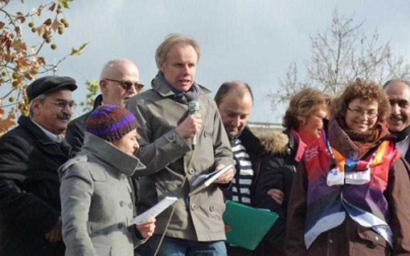 Jan Willem Goudriaan speaking in support of the action