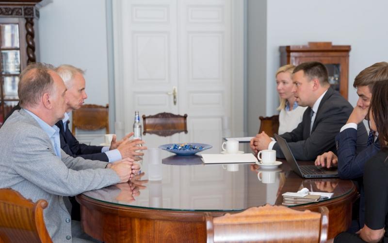 Visiting Estonian prime minister Juri Ratas