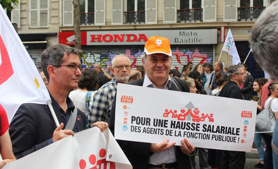 Public sector workers demo' in Paris, 22 May 2018