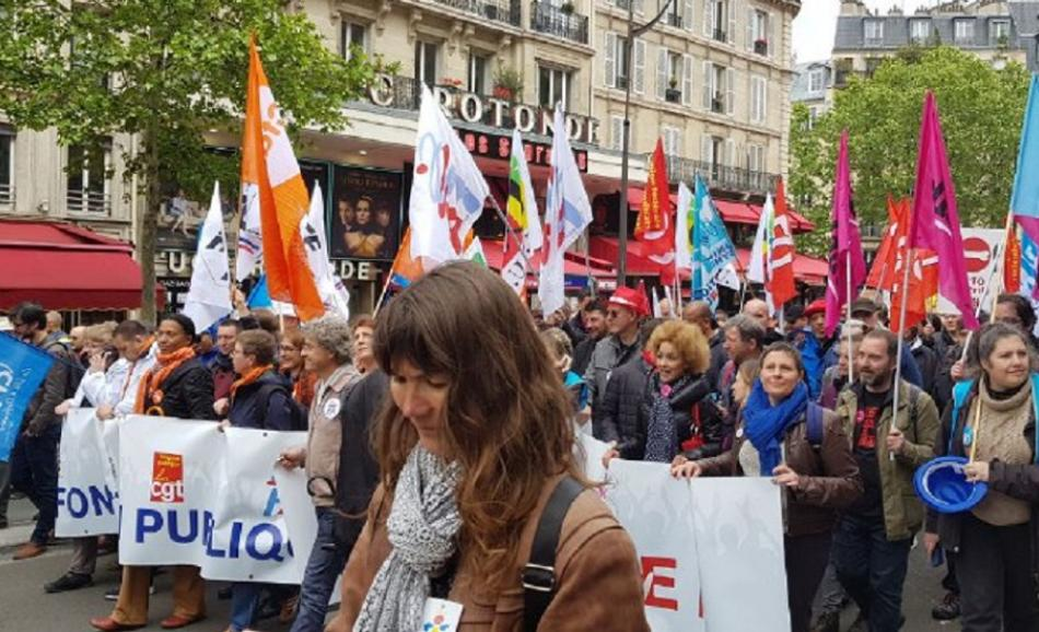 9 May 2019  French public services workers demonstration in Paris
