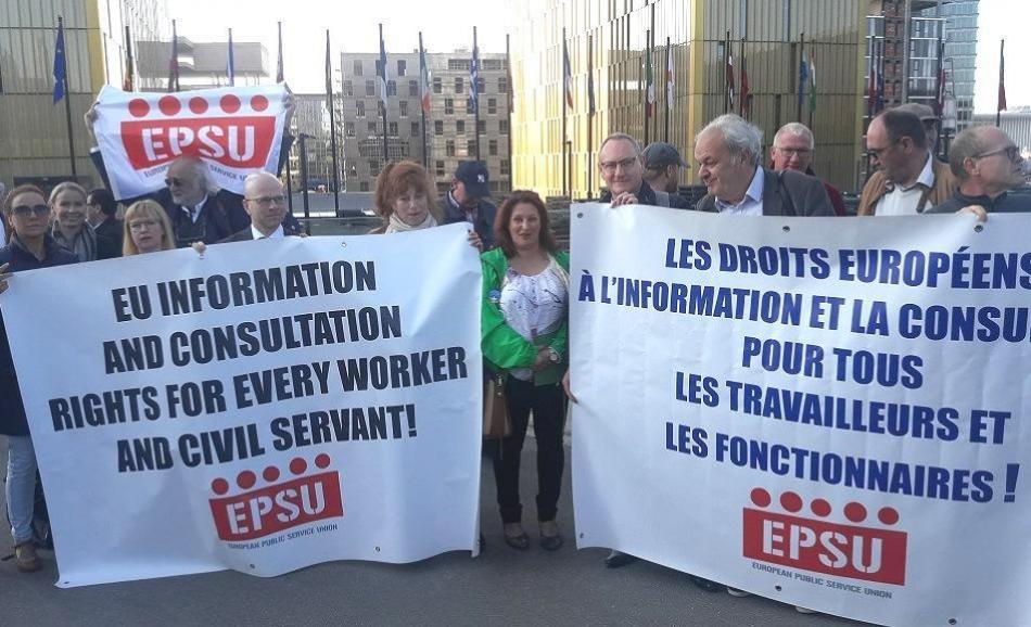 EPSU vs EC Court Case info' and consultation