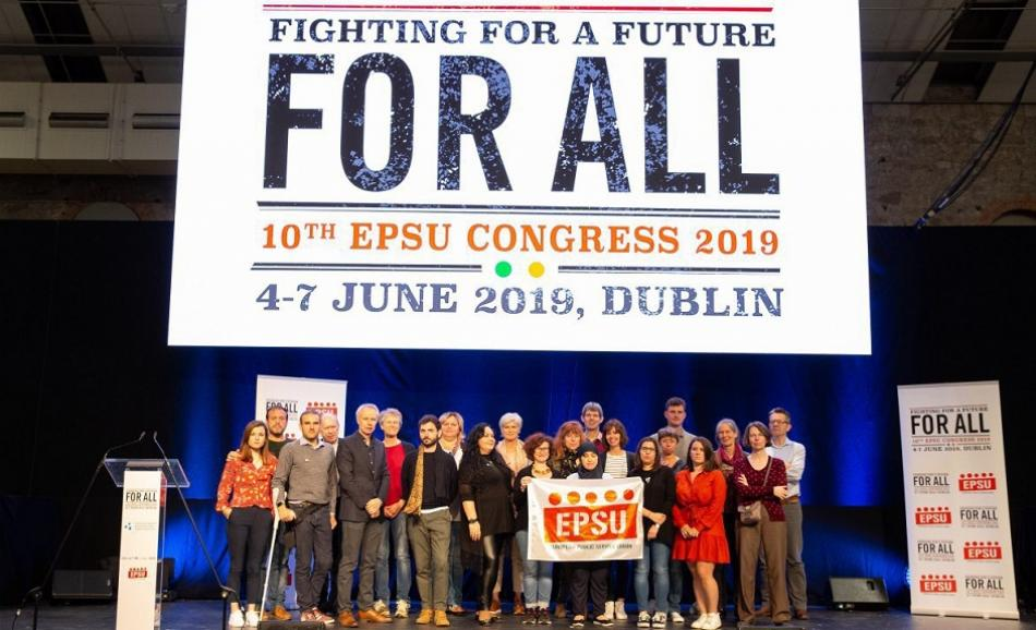 EPSU team Dublin Congress June 2019