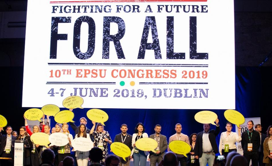 10th EPSU Congress June 2019 Dublin Youth Network members