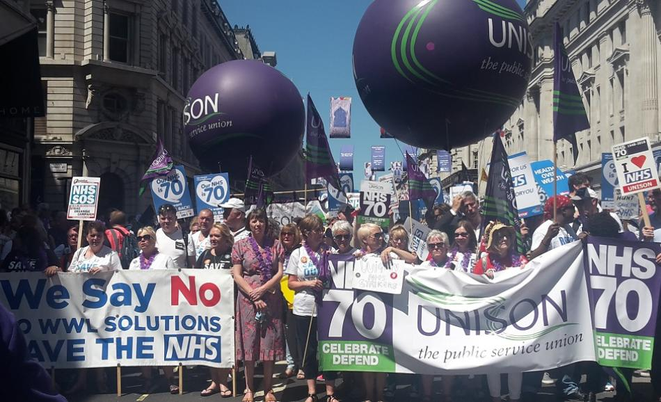 NHS 70th year anniversary London 30 June 2018
