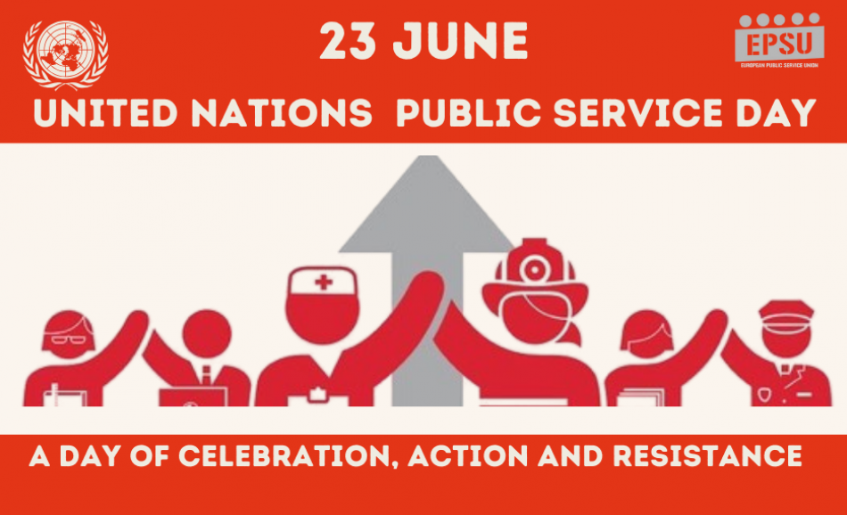 23 June EPSU logo Public Services day