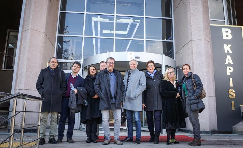 EPSU delegation in front of the Court house in Ankara, January 2019