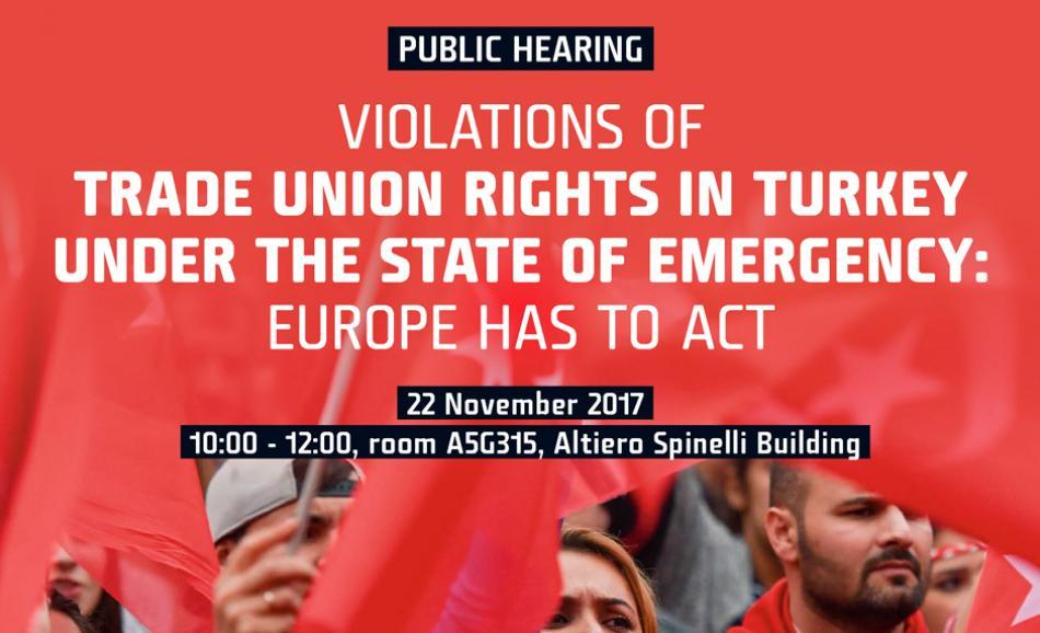 Public Hearing Trade Union Right in Turkey EP 22 November 2017