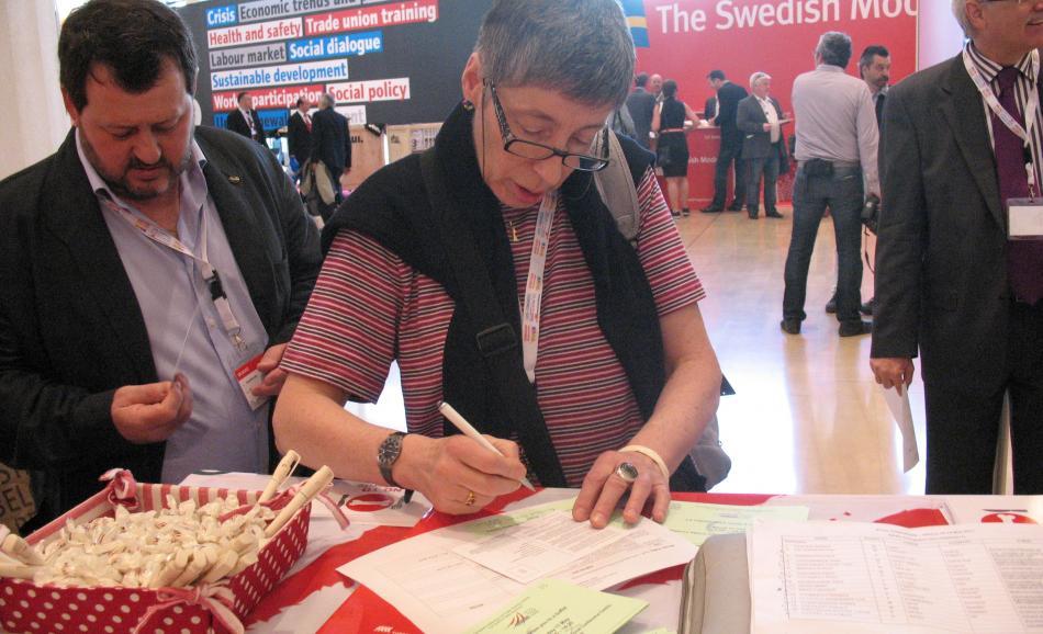 Anne-Marie Perret, EPSU President