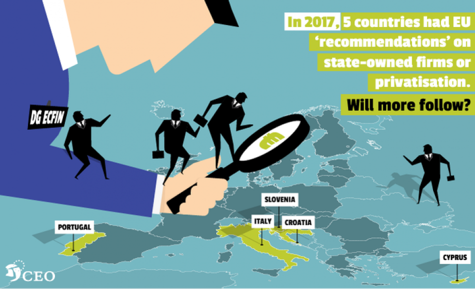 Corporate Europe Observatory privatisation report cover November 2017