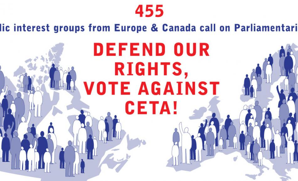 455 European and Canadian civil society group say 'no' to CETA