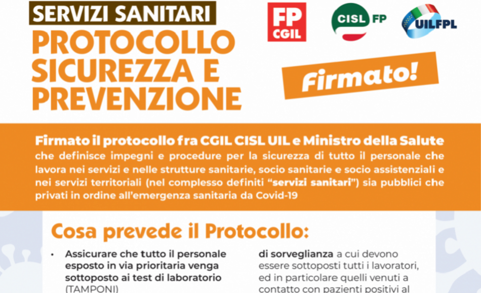 Coronavirus agreement Italy health workers safety