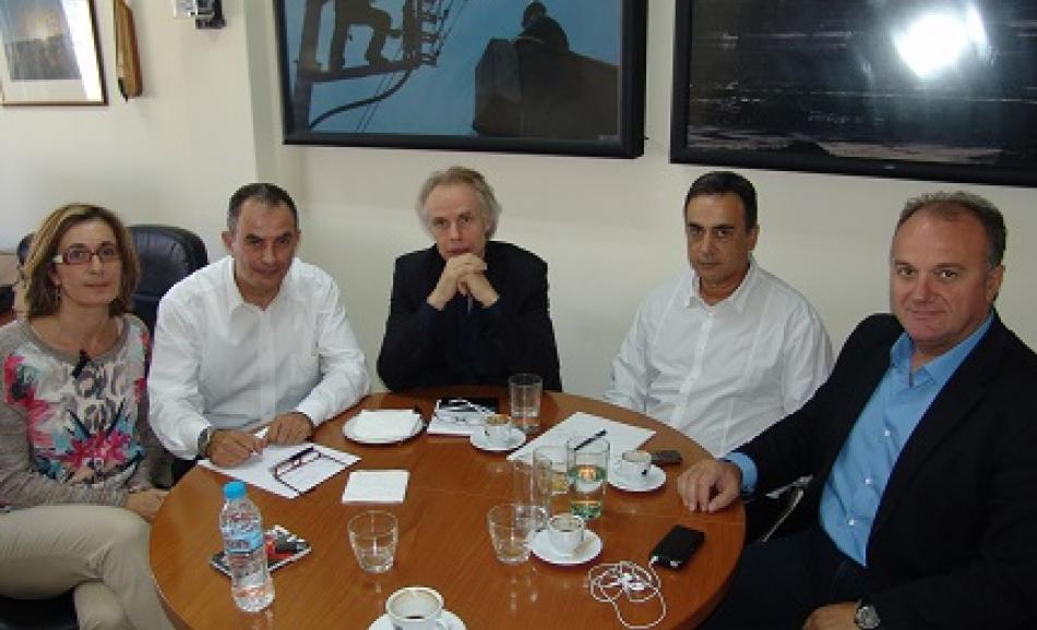 Meeting with GENOP leadership 15 October 2015, Athens