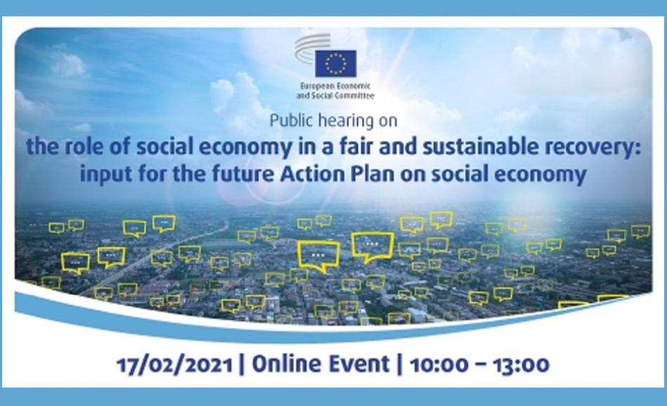 EESC the role of social economy in a fair and sustainable recovery logo