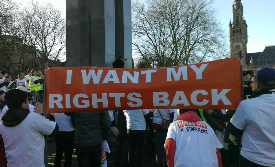 I want my rights back - EPO workers protest