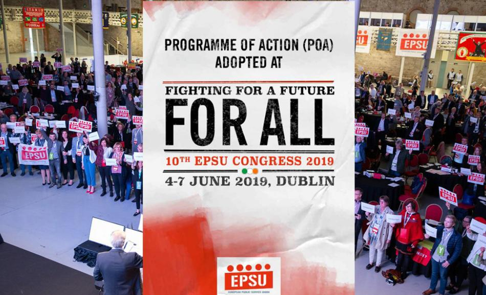 EPSU Congress June 2019 Programme of Action leaflet