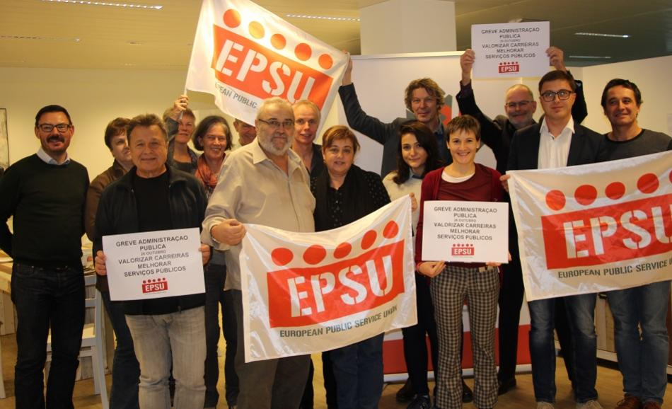EPSU support for Public Sector strike in Portugal, 26 October 2018